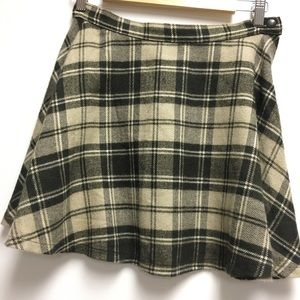American Apparel Plaid Wool Circle Skirt Medium